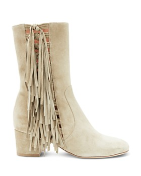 Laurence Dacade - Women's River Suede Fringe Mid-Calf Boots
