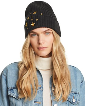AQUA - Star Embroidered Beanie - 100% Exclusive