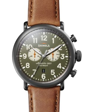 Shinola Runwell Green Dial Chronograph, 47mm