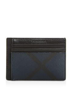 Burberry - Chase London Check Money Clip Card Case