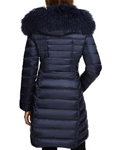 Dawn Levy - Camile Mongolian Sheep Shearling Trim Down Coat