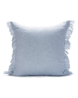 "Sugar Feather - Fringed Solid Decorative Pillow, 22"" x 22"""