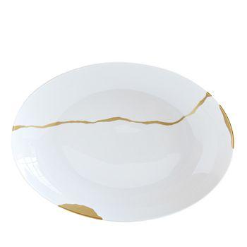 Bernardaud - Kintsugi-Sarkis 24K Gold Deep Oval Platter