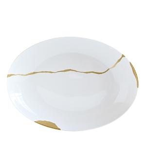 Bernardaud Kintsugi-Sarkis 24K Gold Deep Oval Platter