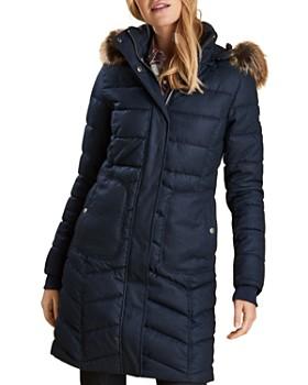 Barbour - Foreland Faux Fur Trim Quilted Jacket ... fcb008c683
