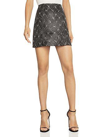 BCBGMAXAZRIA - Basket-Weave Jacquard Mini Skirt