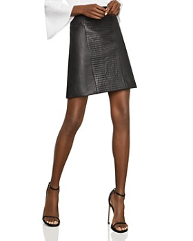 BCBGMAXAZRIA - Faux-Leather A-Line Skirt