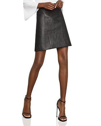 BCBGMAXAZRIA - Faux-Leather A-Line Skirt