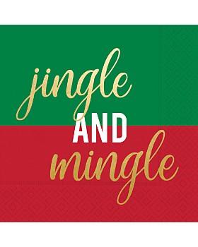 Design Design - Jingle And Mingle Paper Napkins, Set of 20