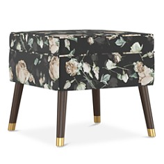 Sparrow & Wren - Quincy Floral Print Square Ottoman - 100% Exclusive