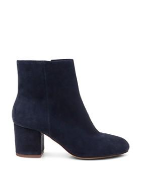 Splendid - Women's Suede Block Heel Booties