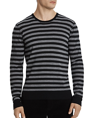 Atm Anthony Thomas Melillo Striped Merino Wool Sweater