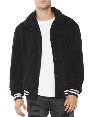 PATRON SAINT OF Zotta Faux-Shearling Bomber Jacket in Black