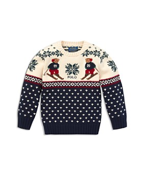 Ralph Lauren - Boys' Polo Bear Intarsia Sweater - Little Kid