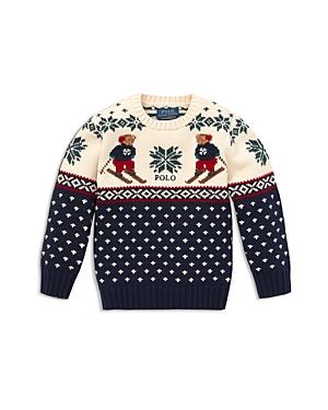 Polo Ralph Lauren Boys Polo Bear Intarsia Sweater  Little Kid