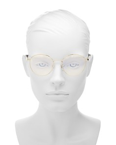 The Book Club - Women's Bothering Sights Round Blue Screen Filter Glasses, 51mm