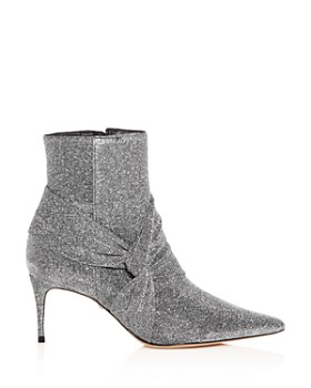 SCHUTZ - Women's Adryen Glitter Pointed Toe Mid-Heel Booties