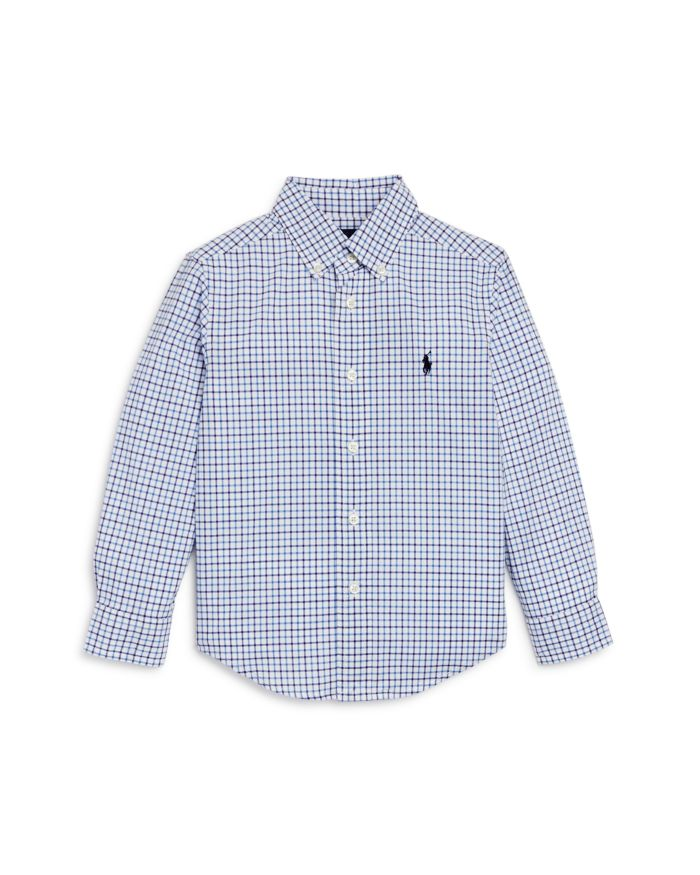 Ralph Lauren Ralph Lauren Boys' Windowpane Check Button-Down Shirt - Little Kid, Big Kid    Bloomingdale's