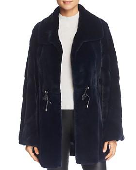 Maximilian Furs - x Z.RHODES Plucked Mink Drawstring Waist Fur Coat