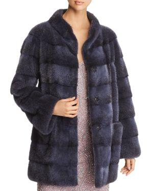 MAXIMILIAN FURS Mink Fur Coat in Gray Black