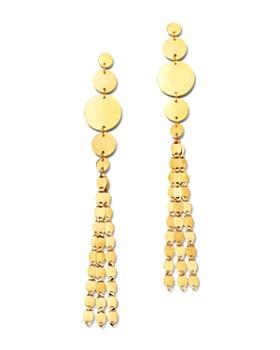 Moon & Meadow - 14K Yellow Gold Disc Tassel Drop Earrings - 100% Exclusive