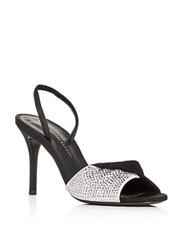 Giuseppe Zanotti - Women's Swarovski Crystal Slingback High-Heel Sandals
