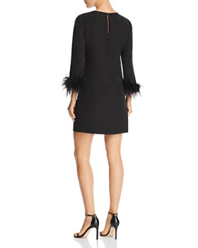 MILLY - Nicole Feather-Trimmed Mini Dress