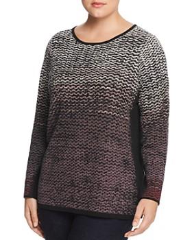 NIC and ZOE Plus - Wavy-Stitch Sweater