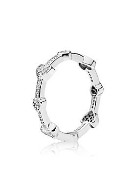 PANDORA - Alluring Hearts Sterling silver & Cubic Zirconia Ring
