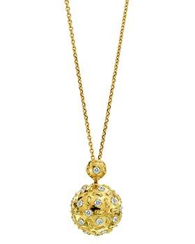 "Gumuchian - 18K Yellow Gold Stitch Diamond Pendant Necklace, 32"""