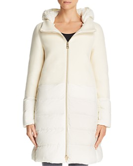 Herno - Nuage Lightweight Mixed Media Down Coat