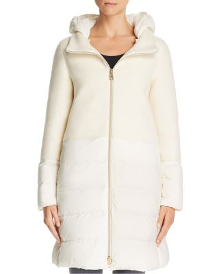 Nuage Lightweight Mixed Media Down Coat by Herno