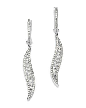 KC DESIGNS 14K White Gold Curve Diamond Earrings