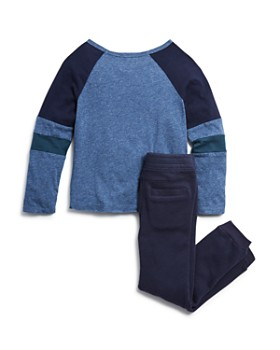 Splendid - Boys' Raglan Tee & Terry Jogger Pants Set - Little Kid