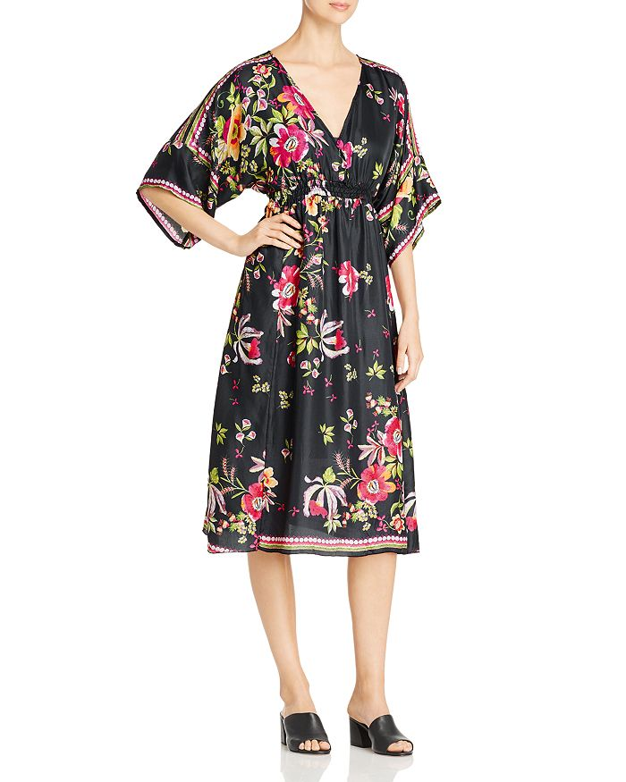 Johnny Was - Gilmore Floral Silk Dress