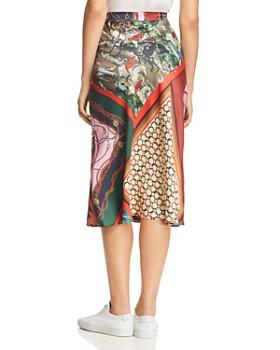 Boutique Moschino - Mixed-Print Midi Skirt