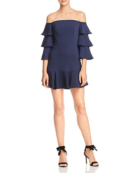 BCBGMAXAZRIA - Off-the-Shoulder Mini Dress