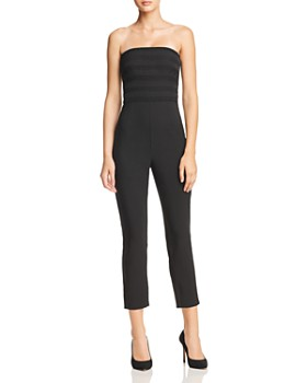Finders Keepers - Sangria Strapless Jumpsuit