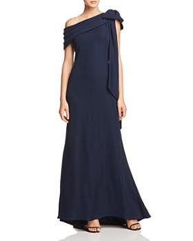 Tadashi Shoji - One-Shoulder Crepe Gown