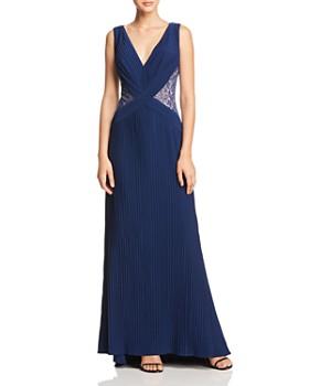 307e2ba1 Tadashi Shoji - Lace-Inset Pleated Gown ...