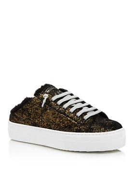 P448 - Women's Clara Crackled Leather Open Back Platform Sneakers