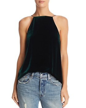 CAMI NYC - Charlie Strap & Lace-Inset Velvet Cami