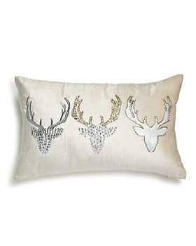 "Bloomingdale's - Embellished Velvet Reindeer Pillow, 12"" x 20"" - 100% Exclusive"