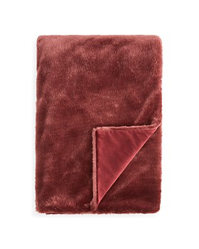 Hudson Park Collection - Jewel Faux Fur Throw - 100% Exclusive