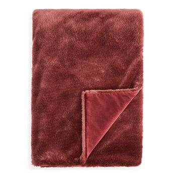 Hudson Park Collection - Jewel Faux Fur Throw - 100% Exclusive