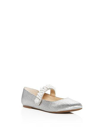 VINCE CAMUTO - Girls' Persia Embellished Glitter Mary-Jane Flats - Toddler, Little Kid, Big Kid