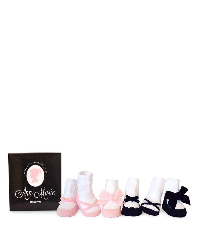 Trumpette - Girls' Ann Marie Ballet Slipper Print Socks, Set of 6 - Baby