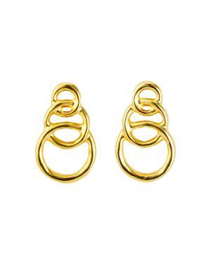 UNO DE 50 Uno De 50 Gold Chain Graduated Loops Drop Earrings
