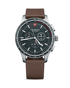 Victorinox Swiss Army Alliance Sport Brown Leather Strap Chronograph, 44mm