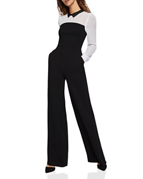 BCBGENERATION - Color-Block Wide-Leg Jumpsuit